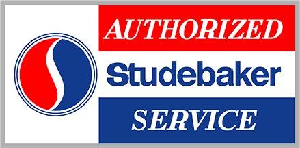 "Studebaker Sign Authorized Service Sign Heavy Baked Enamel Steel 30"""