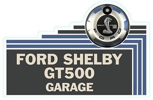 """Shelby GT 500 Sign 18"""" Heavy Steel Sign Cabin Lodge Man Cave Garage Shop Decor"""