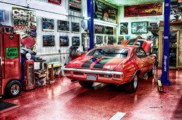 Orange Chevelle SS Sign Cabin Lodge Garage Shop Home Decor