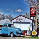 """Old Chevrolet Pickup Truck Metal Sign 11x17 Texaco Used Tires Shop 18"""""""