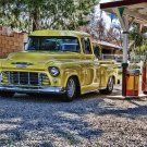 Old 50's Chevrolet Pickup Truck Metal Sign 11x17 Texaco Ethyl Gas Pump