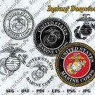 Marine Corps Svg, USMC, Marine svg, US Army dxf, United States Marine Corps Logo, Marine corps dxf