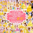 Beauty and the Beast Clipart, Beauty and the Beast png, Disney Clipart, Princess Clipart