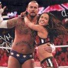 AJ LEE & CM PUNK SIGNED PHOTO 8X10 RP AUTO AUTOGRAPHED WWE WRESTLING