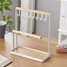 Wooden Jewelry Display Case Stand Holder Organizer Tray Rings Bracelets Necklace