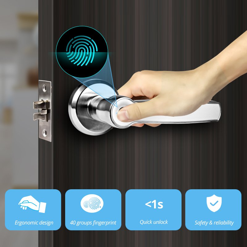 Fingerprint Smart Keyless Entry System Digital Biometric Door Lock Home Security