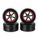 4PCS Wheel Rim & Tires for 23211 KY-1881 1/20 2.4G Buggy Rc Car Parts