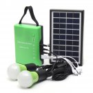 Portable 3W 9V Solar Panel Power Generator USB Cable Charge Emergency LED Light System