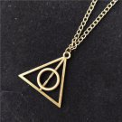 FOR Harry Potter Necklace, Triangle Round Pendant, Vintage Charm Pendant