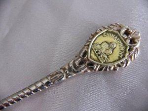 SALE * CHINATOWN NY New York metal Souvenir SPOON Copper?