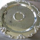 Round SILVERPLATE SERVING TRAY - F.B. Rogers Silver Co Art Nouveau style