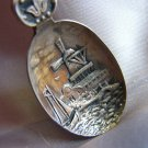 HOLLAND WINDMILL Souvenir SPOON Sailing Ship Marked S AH 90 Crafts