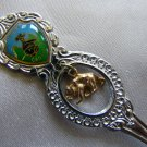 BANFF ALBERTA CANADA SOUVENIR SPOON with dangling BEAR Japan Stainless?