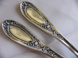 SALE ** BLOSSOM Silverplate DINNER FORKS by 1835 WALLACE - 6 Available