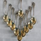 Durgin MADAME ROYALE Sterling DEMITASSE Spoons SET of 8 h mono