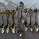 SALE * UNITED STATES Souvenir Demi Spoons BIRD FLOWER PARK BICENTENNIAL var metals
