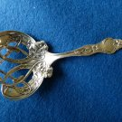 VIOLET Pierced Sterling BON BON SPOON by WALLACE M or W monogram