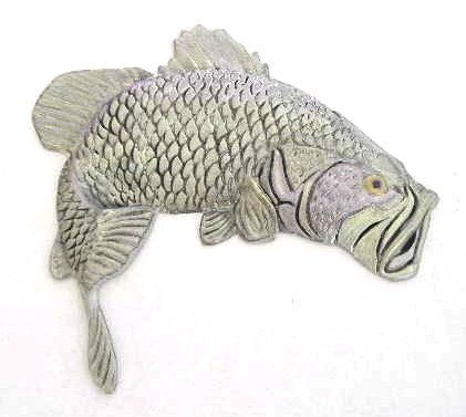 Fish Bass | Refrigerator Magnet |Handpainted Magnets | Fish Magnets