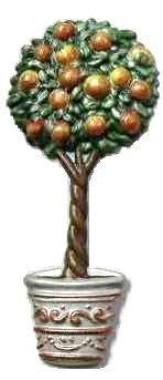 Peach Tree | Refrigerator Magnet | Handpainted Magnets | Tree Magnets