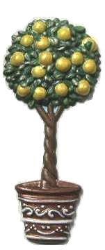 Lemon Tree | Refrigerator Magnet | Handpainted Magnets | Tree Magnets