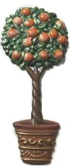 Orange Tree   Refrigerator Magnet   Handpainted Magnets   Tree Magnets