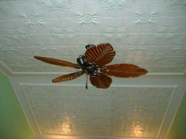 Metal Ceiling Panel Jasmine Hand-Painted