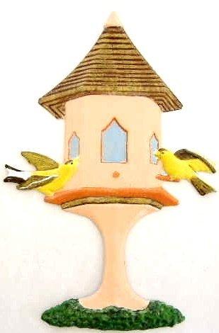 Birdhouse | Refrigerator Magnet | Handpainted Magnets | Bird Magnets