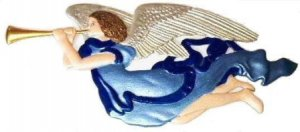 Angel Gabriel   Ornament   Hand-Painted Gifts   Decor