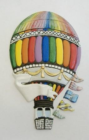 Balloon Hot Air | Refrigerator Magnet | Handpainted Magnets | Balloon Magnets