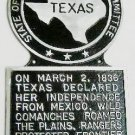 Texas State Histerical Marker V2 Large Handpainted