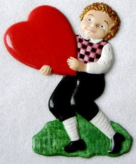 Boy with Heart Light | Ornament | Hand-Painted Gifts | Decor