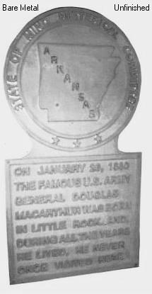 Arkansas State Histerical Marker Large Handpainted