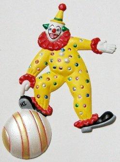 Clown Playful | Refrigerator Magnet |Handpainted Magnets | Clown Magnets