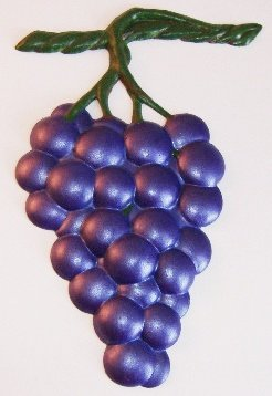 Grape Bunch | Ornament | Hand-Painted Gifts | Decor