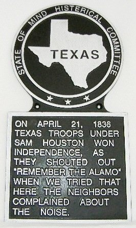 Texas State Histerical Marker V1 Large Handpainted