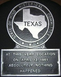 TX State Histerical Marker Small Handpainted