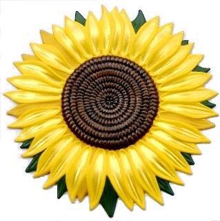 Sunflower Refrigerator Magnet, Custom Hand Painted Magnets