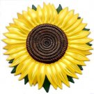 Sunflower Refrigerator Magnet, Custom Hand Painted Magnets