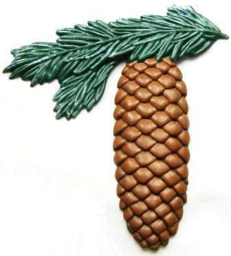 Pine Cone| Refrigerator Magnet | Custom Handpainted Magnets | Seasonal Magnets
