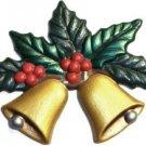 Christmas Bells   Refrigerator Magnet   Custom Handpainted Magnet   Seasonal Magnets