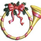 Holiday Horn | Refrigerator Magnet | Custom Handpainted Magnet | Seasonal Magnets