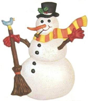 Snowman | Refrigerator Magnet | Custom Handpainted Magnet | Seasonal Magnets