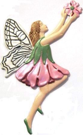 Fairy Garden Spirit | Refrigerator Magnet | Custom Handpainted Magnet | Seasonal Magnets