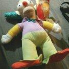 "The Simpsons Krusty Clown Plush 8.5"" Toy Factory Matt Groening 2014 Stuffed Doll"