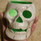 Skull Vintage Candle Holder Halloween Ceramic Pumpkin Head Human Decor