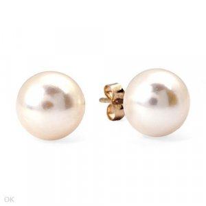 Freshwater Pearl Earrings 14K Yellow Gold