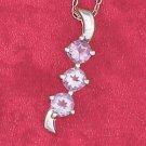 Sterling Silver Fancy Amethyst Pendant
