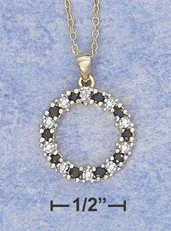 Sterling Silver Sapphire & Illusion Setting Wreath Pendant