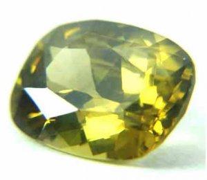 #12249 Zircon Yellow - Green Natural 6.96 cts