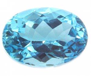 9020 Topaz Medium Blue Natural 18.26cts